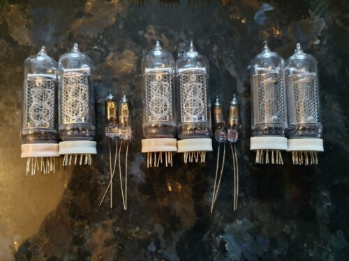 IN-14 NIXIE TUBES SET FOR CLOCK TESTED LOT 6PCS+4pcs IN-3 FREE!