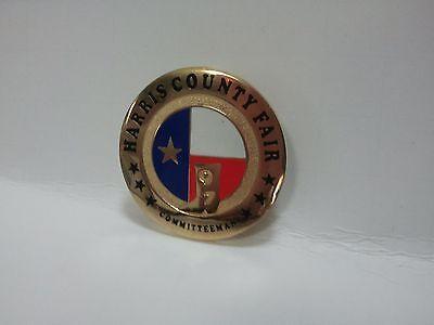 1997 Harris County Fair Committeeman Badge Pin Collectible!