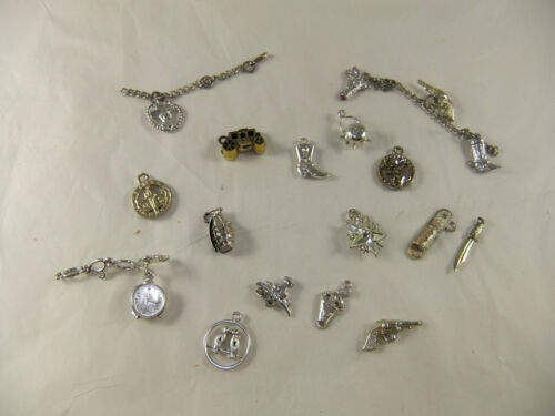 Vintage Cracker Jack other Premium Prize Silver Colored Plastic Charms