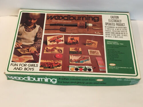 Vintage Creative Craft Woodburning Set No. W103 by American Toy & Furniture