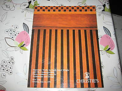 CHRISTIES CATALOGUE NY IMP WORKS BY FRANK LLOYD WRIGHT & OTHERS  DOMINO CENTRE
