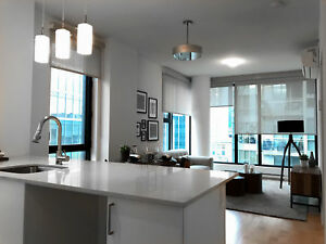 4 1/2 City Skyline Views Condo in Old Montreal + Large Balcony