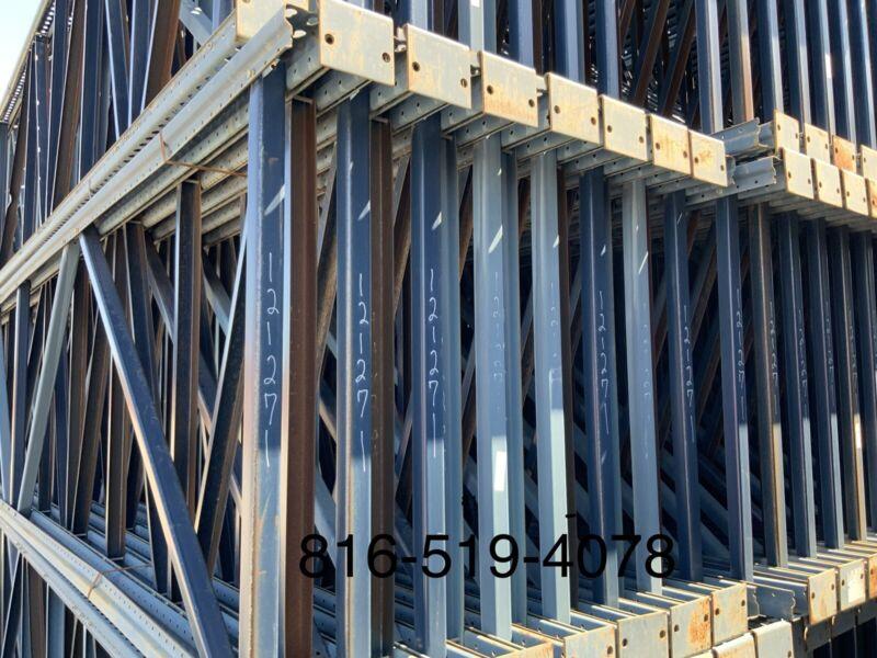 """USED TEARDROP Upright 44x264"""" (22 Feet) in stock Blue tower scaffolding Mecalux"""