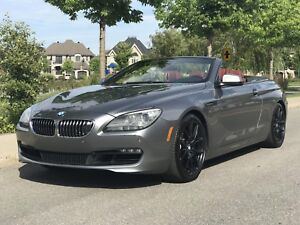 Bmw 650i convertible cherry red interior