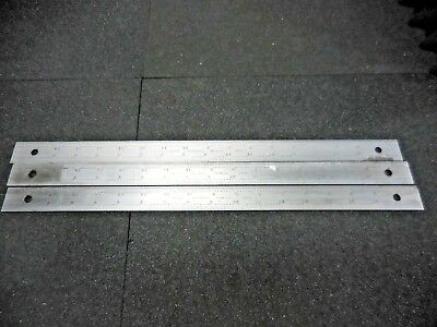 The L.s. Starrett Co. C604r Machinist Tempered Chrome Ruler 18 Lot Of 3
