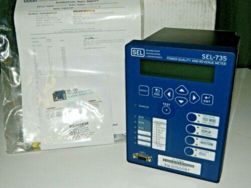 NEW SCHWEITZER SEL-735 POWER QUALITY REVENUE METER 0735BX00644EXXDXXX16101XX
