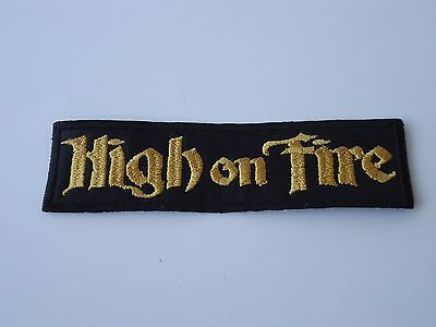HIGH ON FIRE GOLD LOGO EMBROIDERED PATCH