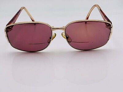 Vintage Gucci GG2266/N Gold Metal Oval Sunglasses Italy FRAMES ONLY