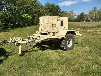 Fremont Mep-803a 10kw Military Generator And Trailer