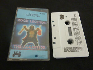 AGGRESSOR-ULTRA-RARE-CASSETTE-TAPE-GOLDEN-EARRING-KISS-STATUS-QUO-THIN-LIZZY