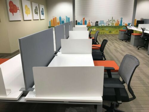 Used Office Cubicles, AMQ Kinex 5x2.5 Cubicles