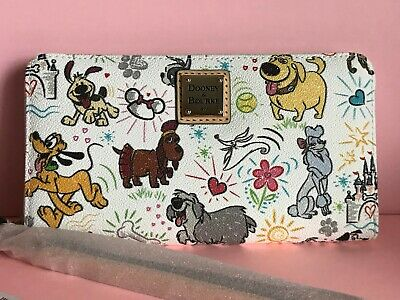 Disney Dooney & Bourke Dogs Sketch Wallet Zero Pluto Dug NWT