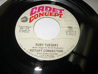 Rotary Connection Ruby Tuesday 45 7 Nm Us Cadet Rolling Stones Psych Rock Listen