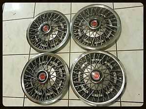 1985 Lincoln Mark vii wired spoked wheel covers