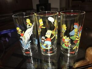 8 The Simpsons Nutella Glasses Valley View Salisbury Area Preview
