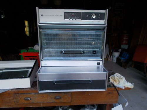 MIDCENTURY KITCHEN RANGE OVEN PULL OUT DRAWER BURNERS OVERHEAD OVEN
