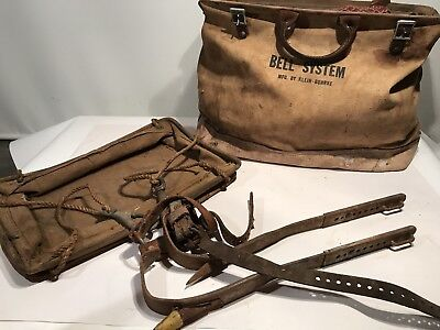 Bell System Klein-buhrke Lineman Wleathercanvas Bag Telephone Western Electric