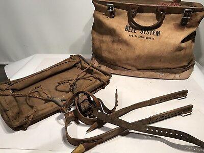 Bell System Klein-buhrke Lineman Wleathercanvas Bag Telephone Western Electric