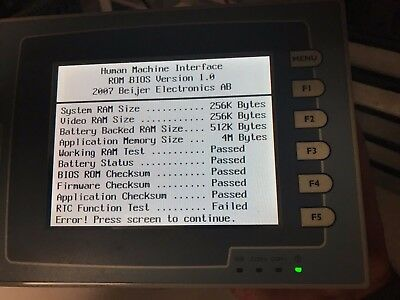 Beijer Electronics H-t60t-s Operator Interface 24 Vdc Overnight Shipping