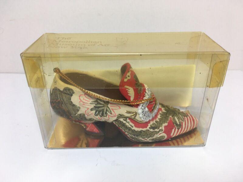 "Metropolitan Museum of Art New York ""Romance Floral Pump"" Ornament Shoe"
