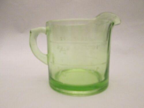 SINGLE SPOUT MEASURE! Vintage HOCKING KITCHEN glass DEPRESSION GREEN color EXC