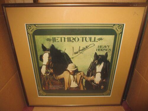 JETHRO TULL Heavy Horses LP Signed IAN ANDERSON FRAMED