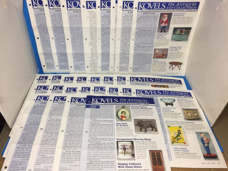 KOVELS on Antiques and Collectibles Newsletter Lot x28 Vol. 29 30 31 index 2003