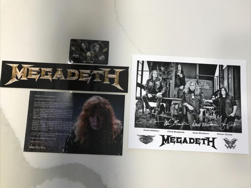 MEGADETH PROMO 8x10 Sticker Guitar Pics Cyber Army Fan Club