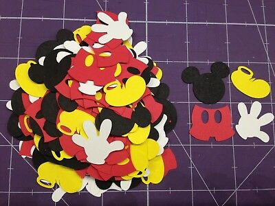 160 Disney Mickey Mouse Die Cuts, Confetti, Scrapbooking, Parties (Mickey Mouse Crafts)