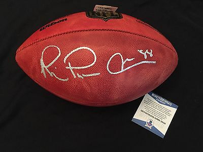 Michael  Playmaker  Irvin Signed Authentic Roger Goodell Nfl Football Beckett