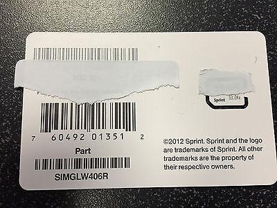 Sprint Boost Ting Freedompop iPhone 5 Sim card Brand new SIMGLW406R
