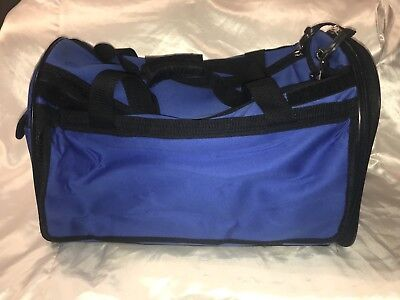 Fashion Pet Travel Gear Dog Cat Animal Carrier Large Carryall Blue Up to 20 lbs