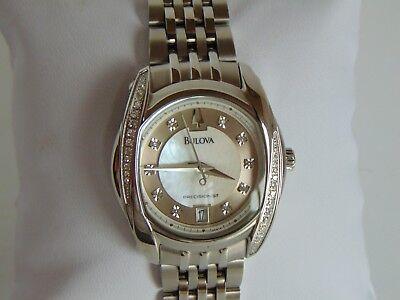 32 Ss Stainless Steel Watch - Bulova Precisionist Tanglewood Women's 32mm MOP w/ 36 Diamond SS Watch L@@K!!!