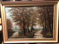 Ölbild Gemälde Landschaft mit Bäumen von Weber Baden-Württemberg - Niedereschach Vorschau