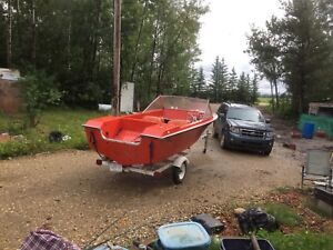 16ft restored anchor boat with or without 55 evinrude $1000.00
