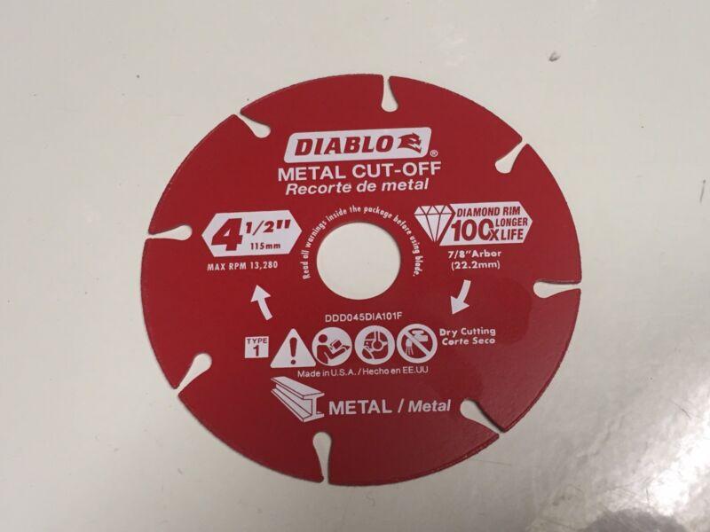 NEW Diablo 4.5 inch Diamond Wheel Metal Cutting Cut Off Tool Disc Angle Grinder