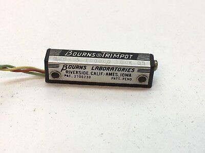 Vintage Bourns Trimpot 120-15-100000 100k Cb Resistor