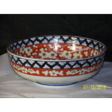 Chinese Qing Dy Peony Floral Decor Porcelain Bowl