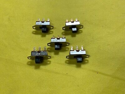 3 Pin 2 Position Black Mini Spdt Slide Switches On-off Switch Quantity 5