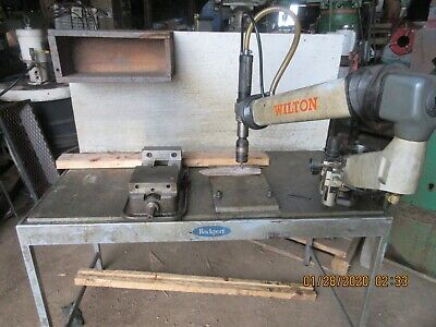 Nice Wilton Tapping Arm On A Bench With Vise Large Tapping Flexarm