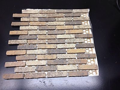 """Jillian Mosaico 1*3"""" Tile sheets by Cerindustries S.p.A Made In Italy"""