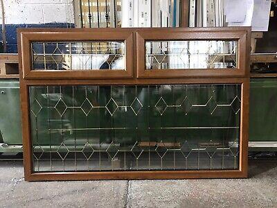 Second Hand UPVC Window, Golden Oak, 1795mm Wide By 1195mm Height (W4966)