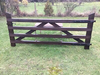 "Wooden Gate 8ft 6"" Garden Driveway Paddock  Field Heavy Duty"