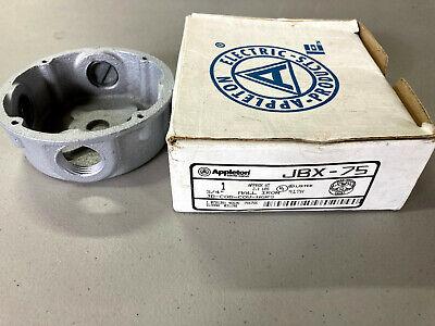 Appleton Jbx-75 Round Malleable Iron Junction Box W34 Hubs