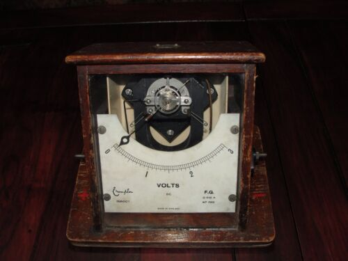 ANTIQUE CROMPTON VOLMETER