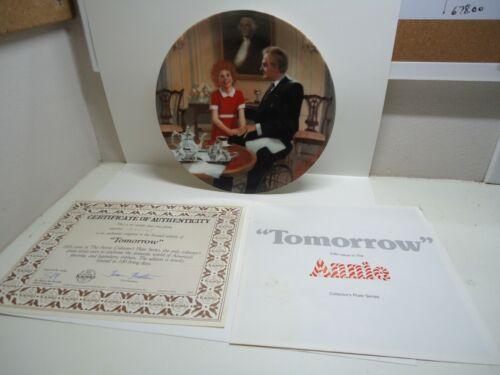 Vintage 1985 Edwin Knowles Bradford Exchange #5  Annie Collector Plate Tomorrow