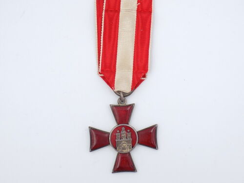 Original WWI Imperial German Hanseatic Cross - City of Hamburg
