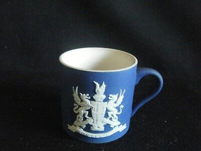 Antique Adams Blue Jasper Small Cup 1 Inch And 3/8ths Tall - City Of London Arms