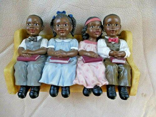 Vintage African American Church Pew UTI Figurine