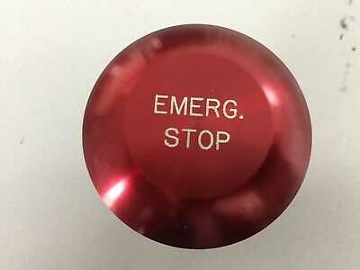 Mushroom Head Emergency Stop Button.. Just The Button